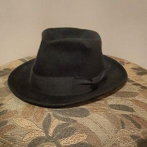 Men's Black Biltmore Fedora Sz 7 1/8